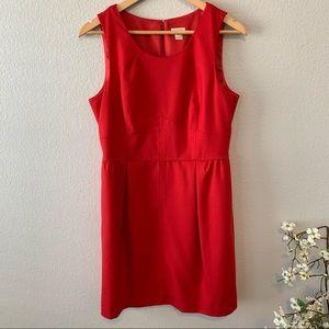 J. Crew Red Sleeveless Dress 10 like new, pockets!